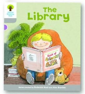 オックスフォードリーディングツリー ORT レベル1 ステージ1 stage1 Wordless Stories A The Library 表紙