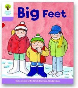 オックスフォードリーディングツリー ORT レベル1+ ステージ1+ stage1+ First Sentences Big Feet 表紙
