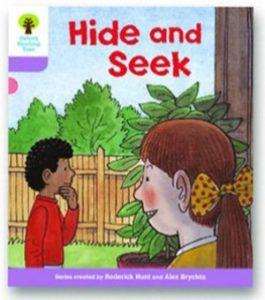 オックスフォードリーディングツリー ORT レベル1+ ステージ1+ stage1+ First Sentences Hide and Seek 表紙