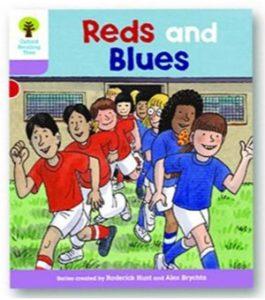 オックスフォードリーディングツリー ORT レベル1+ ステージ1+ stage1+ First Sentences Reds and Blues 表紙