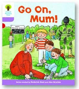 オックスフォードリーディングツリー ORT レベル1+ ステージ1+ stage1+ More First Sentences A Go On Mum 表紙