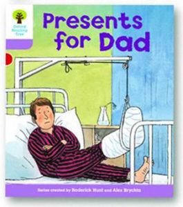 オックスフォードリーディングツリー ORT レベル1+ ステージ1+ stage1+ More First Sentences A Presents for Dad 表紙
