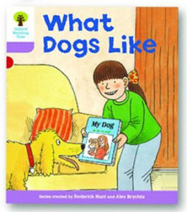 オックスフォードリーディングツリー ORT レベル1+ ステージ1+ stage1+ More First Sentences A What Dogs Like 表紙