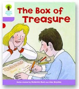 オックスフォードリーディングツリー ORT レベル1+ ステージ1+ stage1+ More First Sentences B The Box of Treasure 表紙