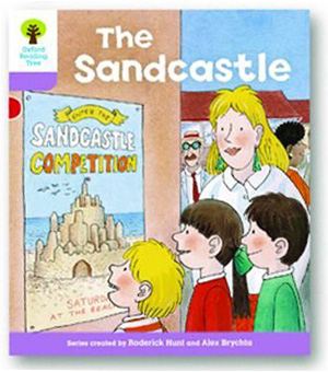 オックスフォードリーディングツリー ORT レベル1+ ステージ1+ stage1+ More First Sentences B The Sandcastle 表紙