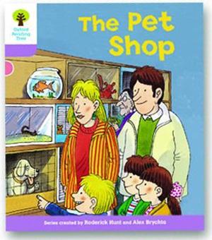 オックスフォードリーディングツリー ORT レベル1+ ステージ1+ stage1+ Patterned Stories The Pet Shop 表紙