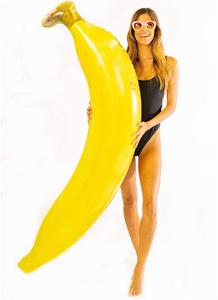 バナナ型のフロート