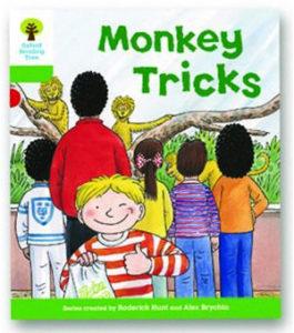 オックスフォードリーディングツリー ORT レベル2 ステージ2 stage2 Patterned Stories Monkey Tricks 表紙