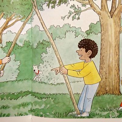 棒を持つウィルフ