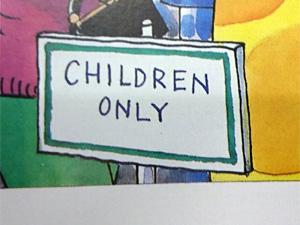 「子どもだけ」の看板
