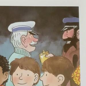 ウイスキーを飲む船長とお父さん
