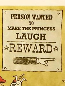 姫を笑わせる人の募集ポスター
